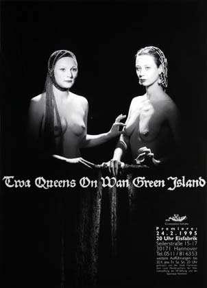 Plakat: Twa queens on Wan green island