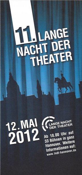 Plakat: 11. Lange Nacht der Theater