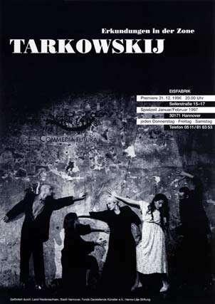 Plakat: Tarkowskij – Erkundungen in der Zone