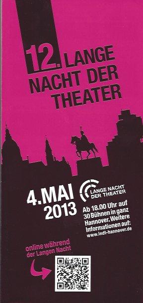 Plakat: 12. Lange Nacht der Theater