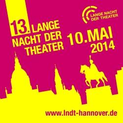 Plakat: 13. Lange Nacht der Theater