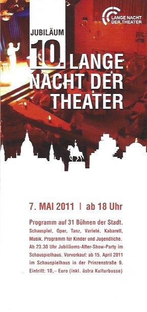 Plakat: 10. Lange Nacht der Theater
