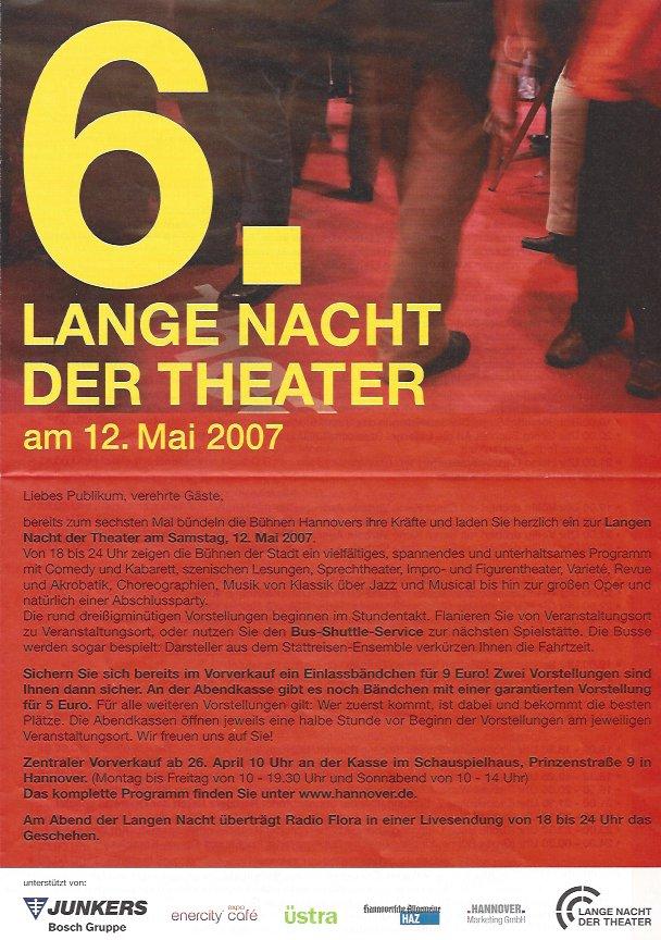 Plakat: 6. Lange Nacht der Theater