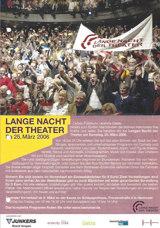 Plakat: 5. Lange Nacht der Theater