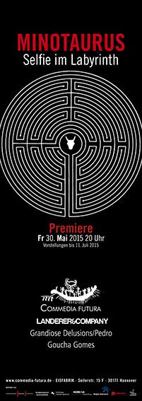 Plakat: Minotaurus/Selfie im Labyrinth