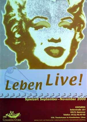 Plakat: Leben Live!