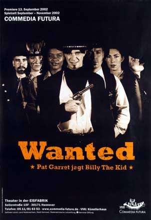 Plakat: Wanted - Pat Garrett jagt Billy The Kid