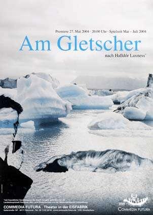 Plakat: Am Gletscher